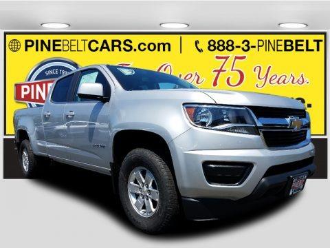 Silver Ice Metallic 2017 Chevrolet Colorado WT Crew Cab 4x4