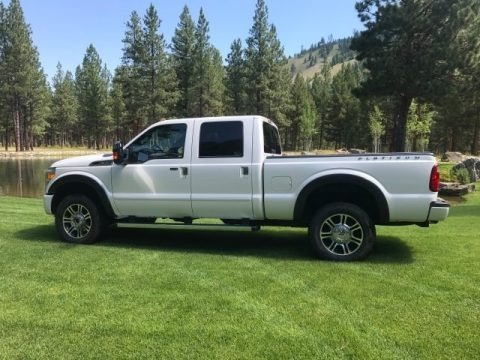 White Platinum 2015 Ford F350 Super Duty Lariat Crew Cab 4x4