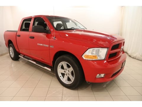 Flame Red 2012 Dodge Ram 1500 Express Crew Cab 4x4