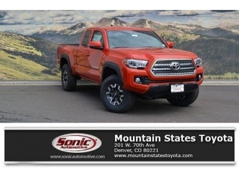Inferno Orange 2017 Toyota Tacoma TRD Off Road Access Cab 4x4