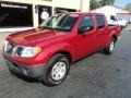 Nissan Frontier S Crew Cab Red Brick photo #2