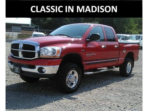 Flame Red 2006 Dodge Ram 2500 Big Horn Edition Quad Cab 4x4