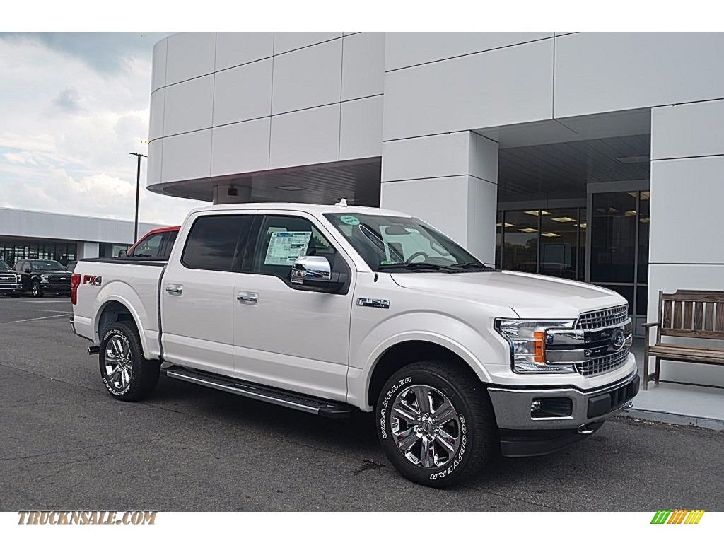 2018 ford f150 lariat supercrew 4x4 in white platinum a13361 truck n 39 sale. Black Bedroom Furniture Sets. Home Design Ideas