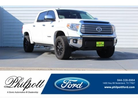 Super White 2016 Toyota Tundra Limited CrewMax 4x4