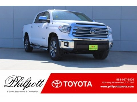 Super White 2018 Toyota Tundra Limited CrewMax 4x4