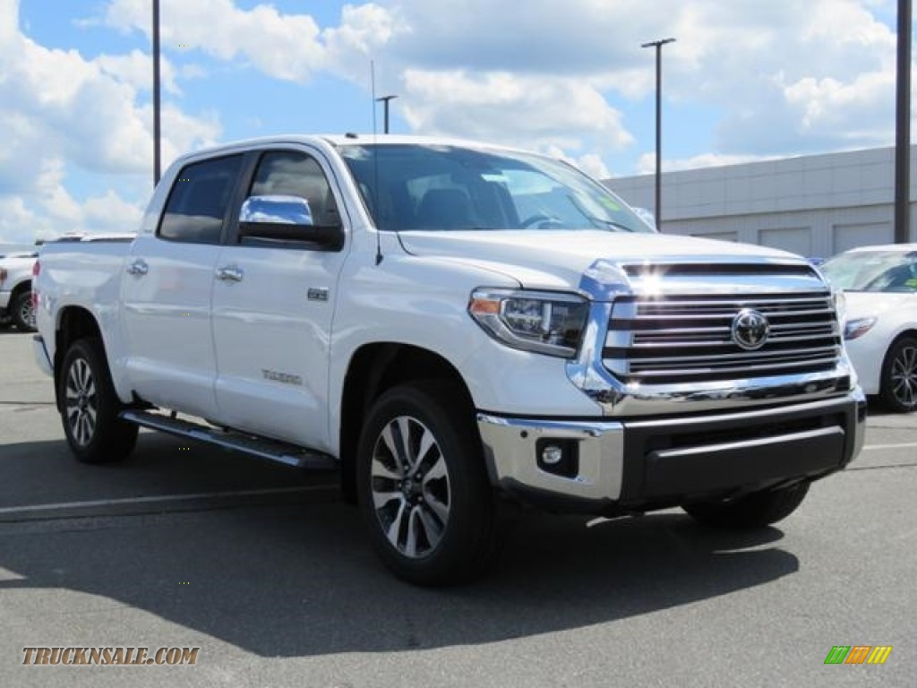 2018 toyota tundra limited crewmax 4x4 in super white