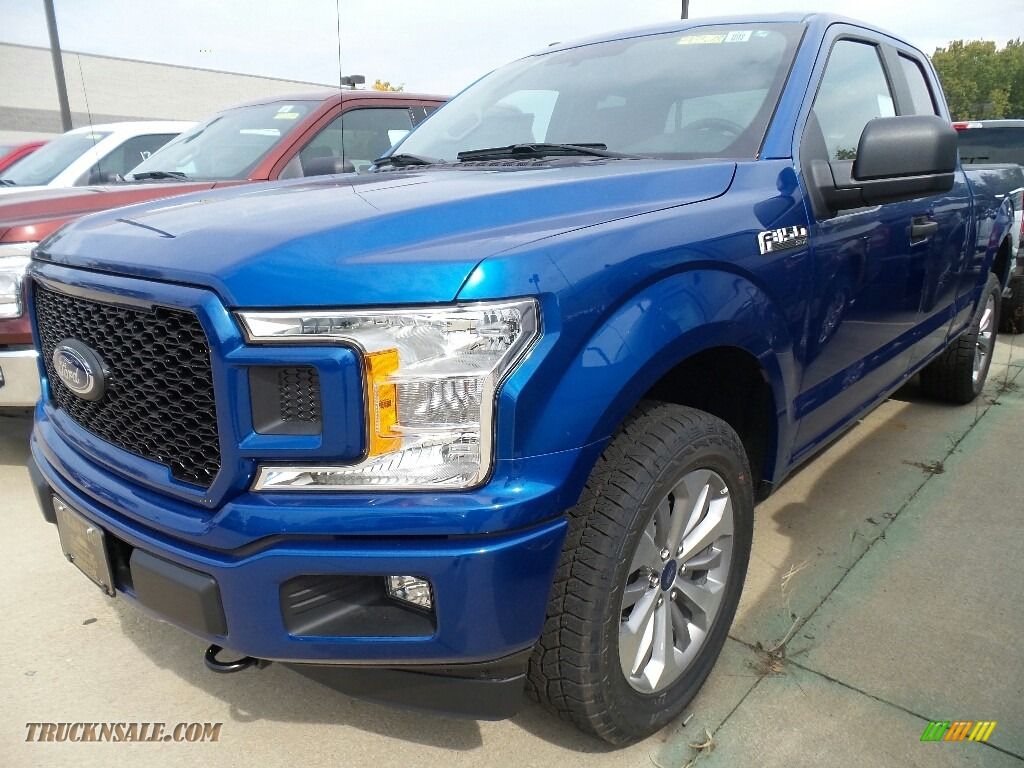 2018 ford f150 stx supercab 4x4 in lightning blue for sale a15175 truck n 39 sale. Black Bedroom Furniture Sets. Home Design Ideas