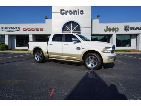 Bright White 2011 Dodge Ram 1500 Laramie Longhorn Crew Cab 4x4