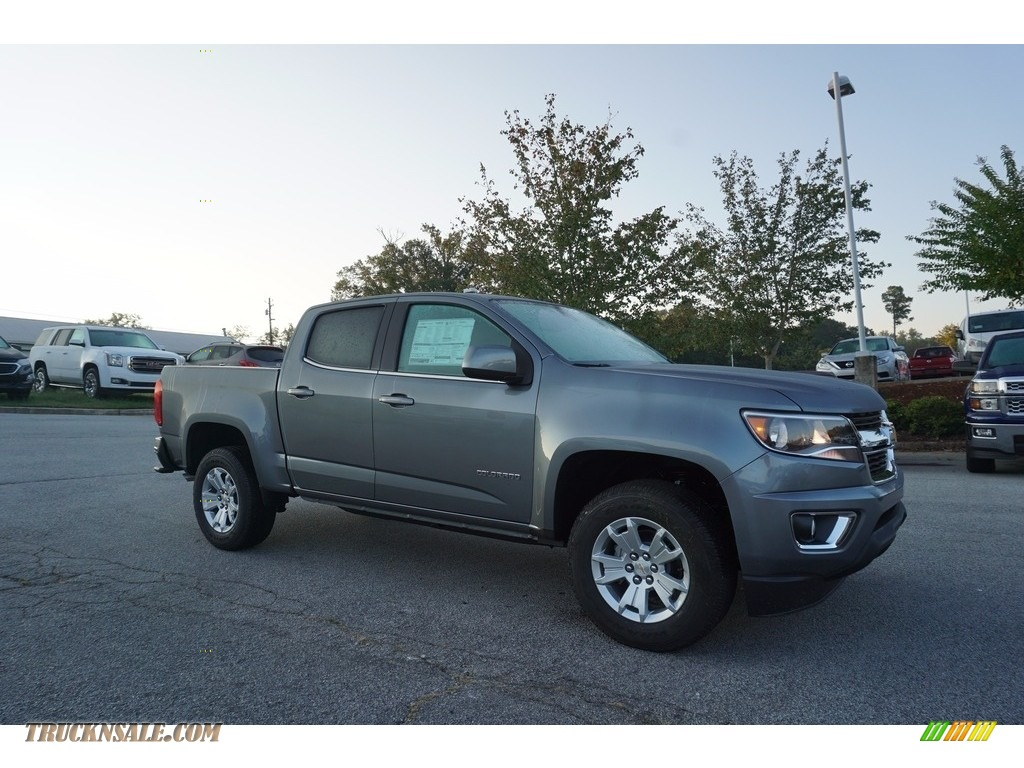 Satin Steel Metallic / Jet Black Chevrolet Colorado LT Crew Cab