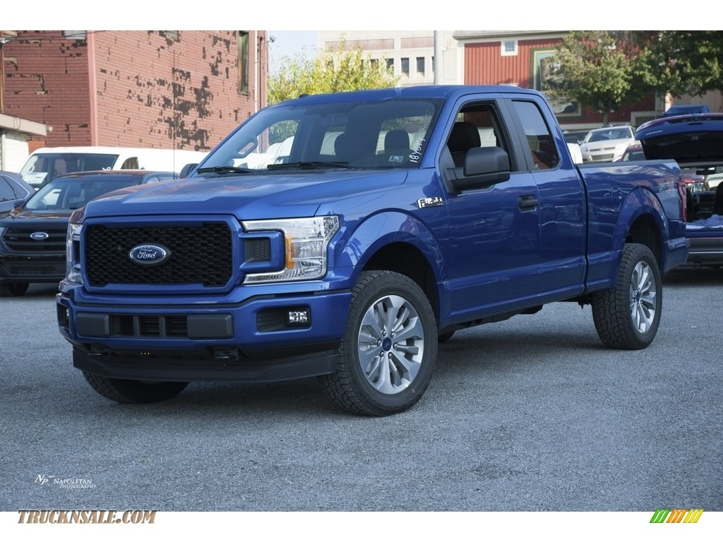 2018 ford f150 stx supercab 4x4 in lightning blue for sale a59481 truck n 39 sale. Black Bedroom Furniture Sets. Home Design Ideas