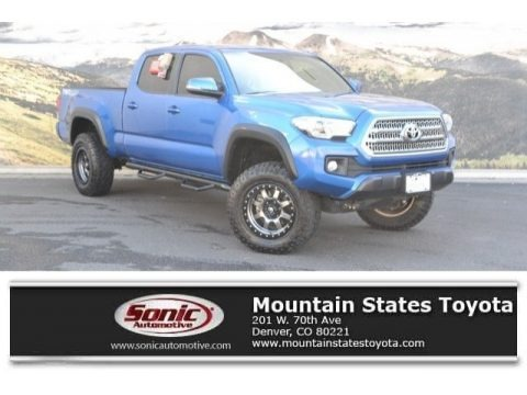 Blazing Blue Pearl 2016 Toyota Tacoma TRD Off-Road Double Cab 4x4