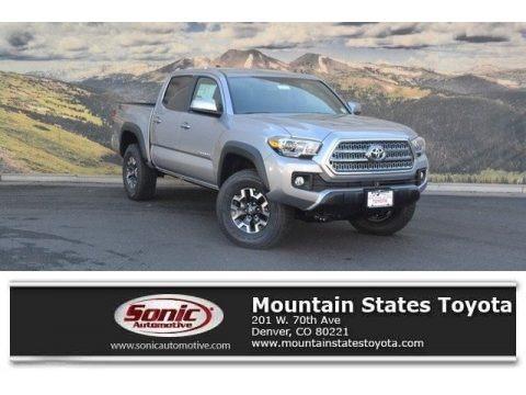 Silver Sky Metallic 2017 Toyota Tacoma TRD Off Road Double Cab 4x4