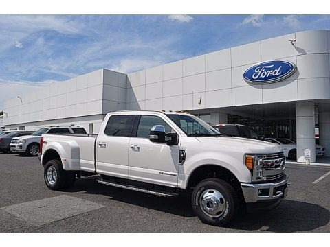 White Platinum 2017 Ford F350 Super Duty Lariat Crew Cab 4x4