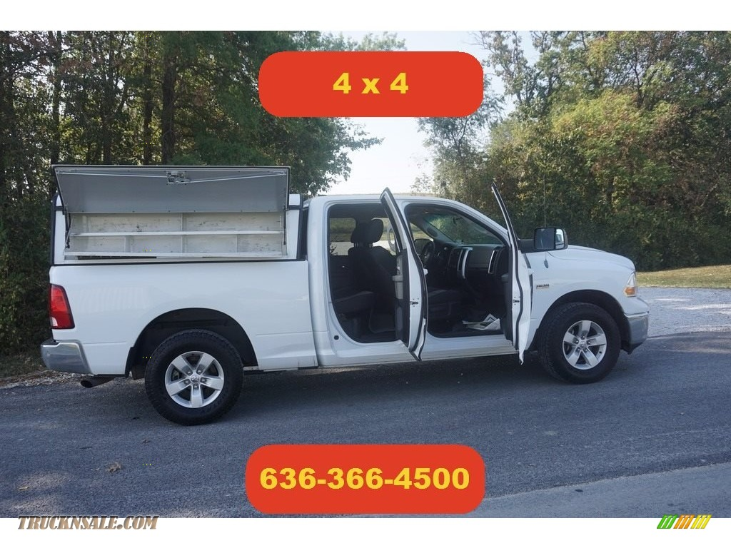 2012 Ram 1500 SLT Quad Cab 4x4 - Bright White / Dark Slate Gray/Medium Graystone photo #1
