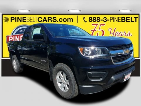 Black 2018 Chevrolet Colorado WT Extended Cab 4x4