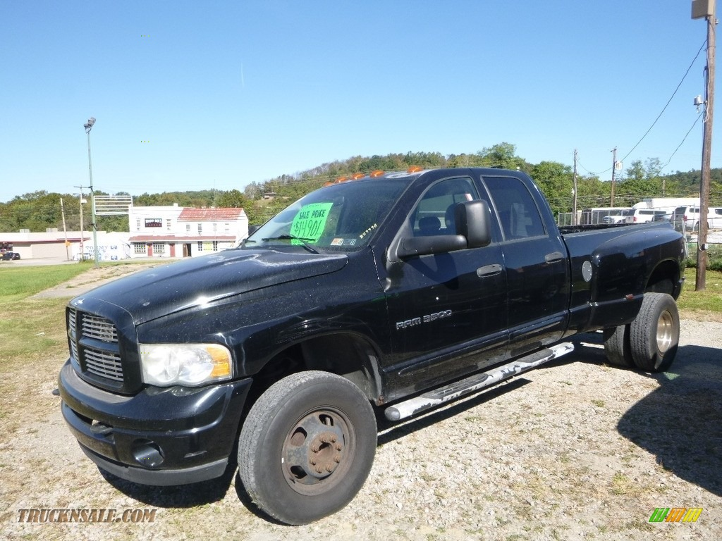 2004 Ram 3500 ST Quad Cab 4x4 Dually - Black / Dark Slate Gray photo #1