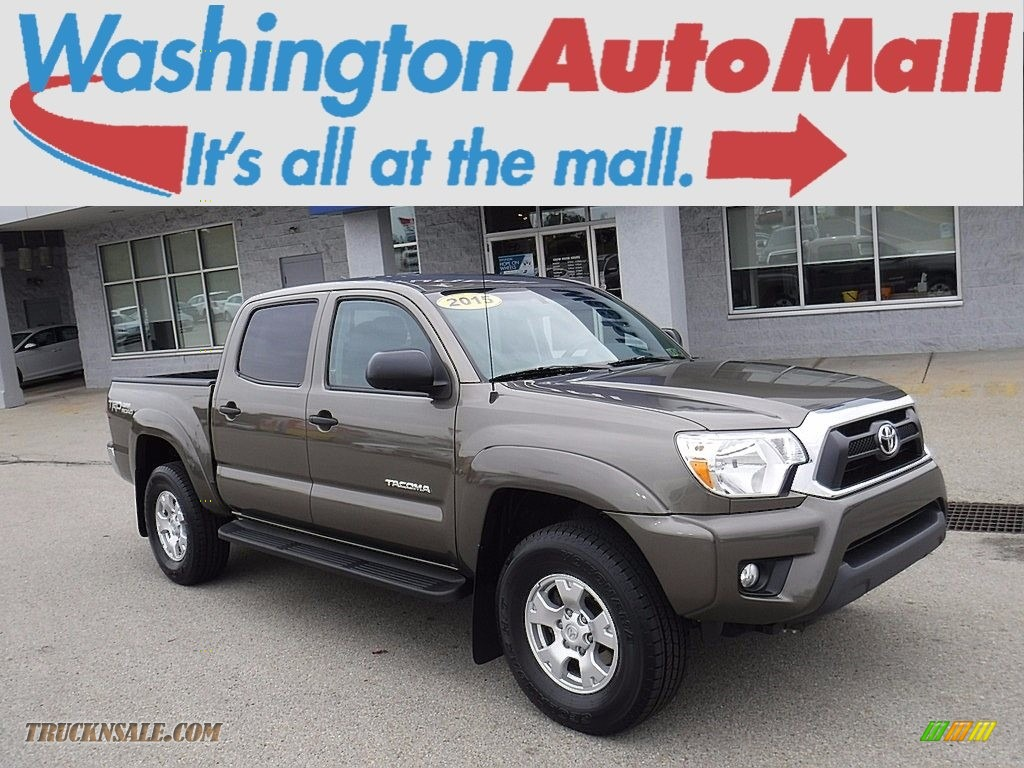 2015 Tacoma V6 Double Cab 4x4 - Pyrite Mica / Graphite photo #1