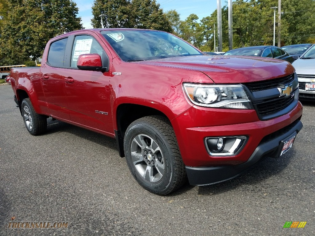 Cajun Red Tintcoat / Jet Black Chevrolet Colorado Z71 Crew Cab 4x4