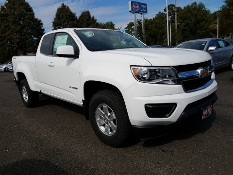 Summit White 2018 Chevrolet Colorado WT Extended Cab 4x4