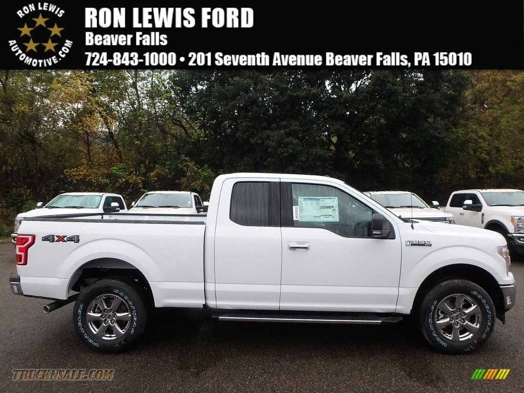 2018 F150 XL SuperCab 4x4 - Oxford White / Earth Gray photo #1