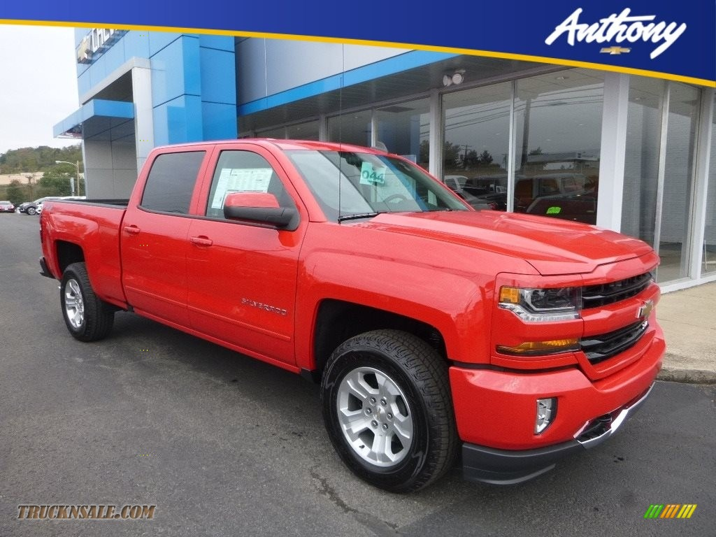 Red Hot / Jet Black Chevrolet Silverado 1500 LT Crew Cab 4x4