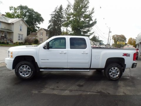Summit White 2013 Chevrolet Silverado 2500HD LT Crew Cab 4x4