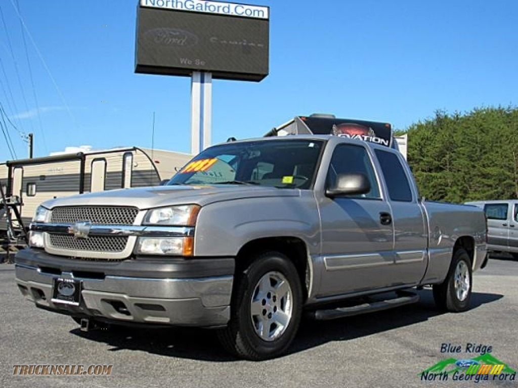 2005 Silverado 1500 LS Extended Cab - Silver Birch Metallic / Medium Gray photo #1