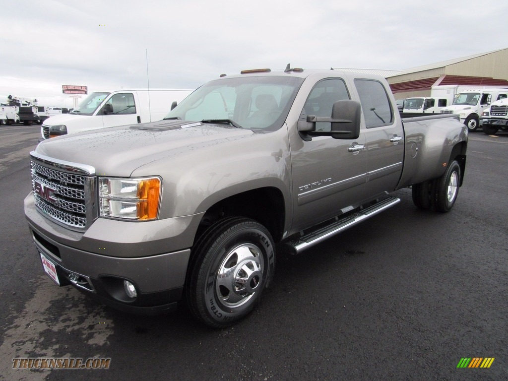 2013 Sierra 3500HD Denali Crew Cab 4x4 Dually - Steel Gray Metallic / Cocoa/Light Cashmere photo #1