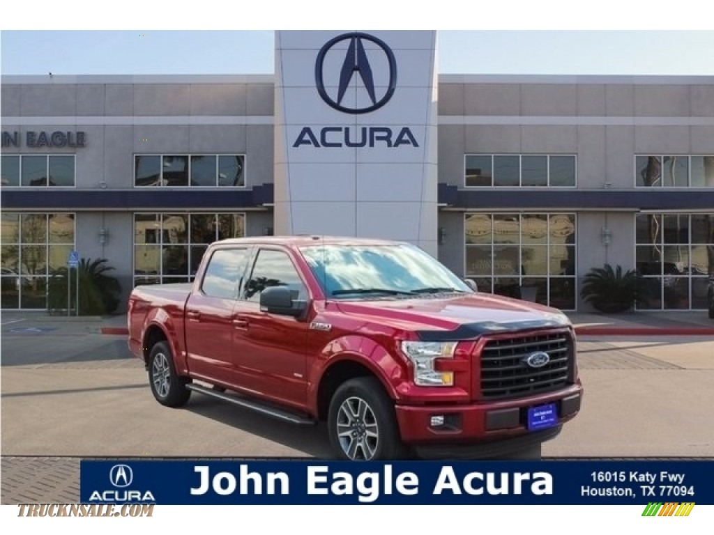 2016 F150 XLT SuperCrew - Ruby Red / Medium Earth Gray photo #1