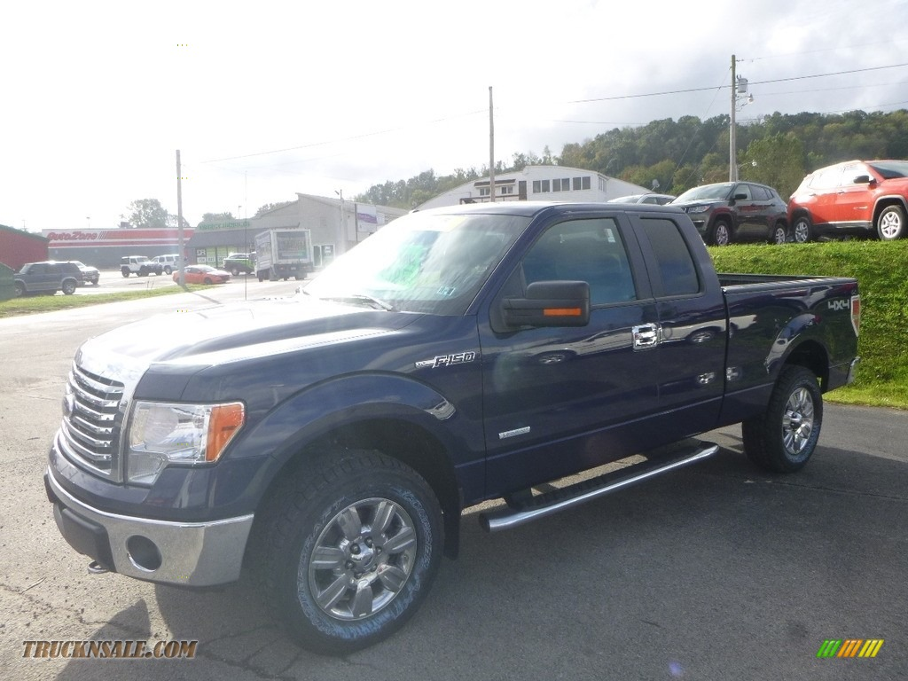 2011 F150 XLT SuperCab 4x4 - Blue Flame Metallic / Steel Gray photo #1