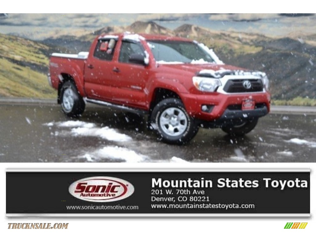2015 Tacoma V6 Double Cab 4x4 - Barcelona Red Metallic / Graphite photo #1