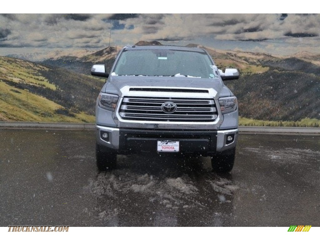 2018 Tundra Limited CrewMax 4x4 - Cement / Black photo #2