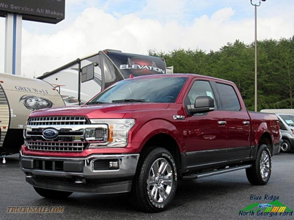 Ruby Red / Earth Gray Ford F150 XLT SuperCrew 4x4
