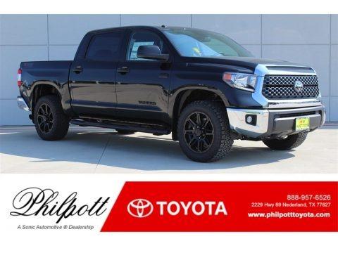 Midnight Black Metallic 2018 Toyota Tundra TSS CrewMax 4x4