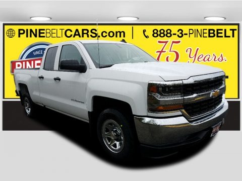 Summit White 2018 Chevrolet Silverado 1500 LS Double Cab