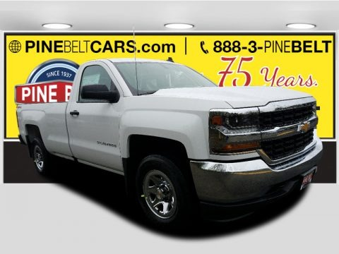 Summit White 2018 Chevrolet Silverado 1500 LS Regular Cab 4x4