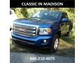 GMC Canyon SLE Extended Cab 4x4 Marine Blue Metallic photo #1