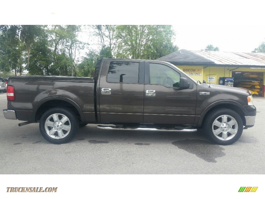 2005 F150 Lariat SuperCrew - Dark Stone Metallic / Tan photo #2