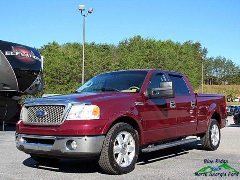 Dark Toreador Red Metallic 2006 Ford F150 Lariat SuperCrew
