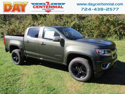 Deepwood Green Metallic 2018 Chevrolet Colorado LT Crew Cab 4x4