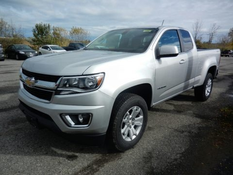 Silver Ice Metallic 2018 Chevrolet Colorado LT Extended Cab 4x4