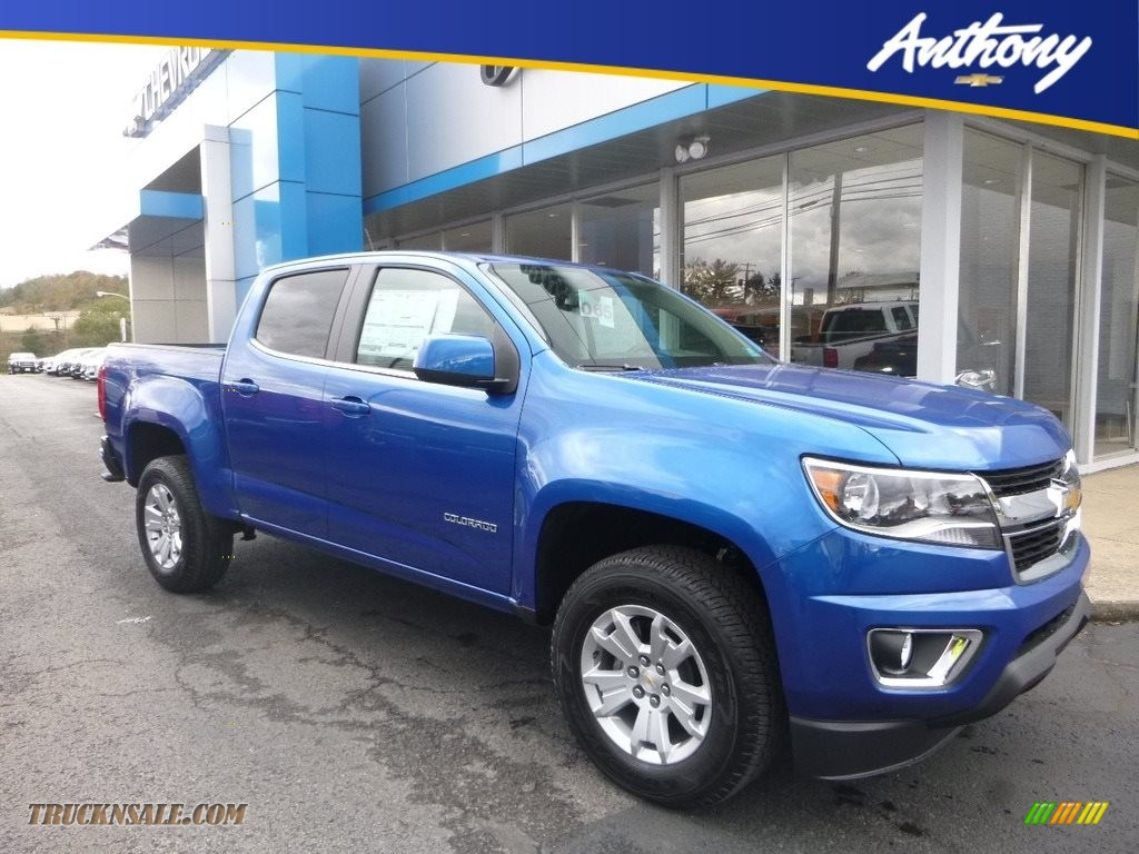 2018 Colorado LT Crew Cab 4x4 - Kinetic Blue Metallic / Jet Black photo #1