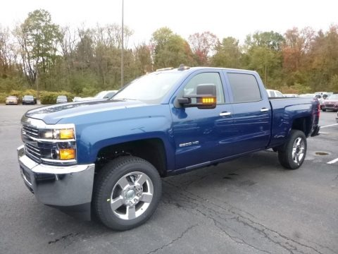 Deep Ocean Blue Metallic 2018 Chevrolet Silverado 2500HD Work Truck Crew Cab 4x4