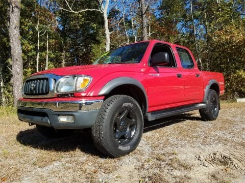 Impulse Red Pearl 2004 Toyota Tacoma V6 PreRunner Double Cab