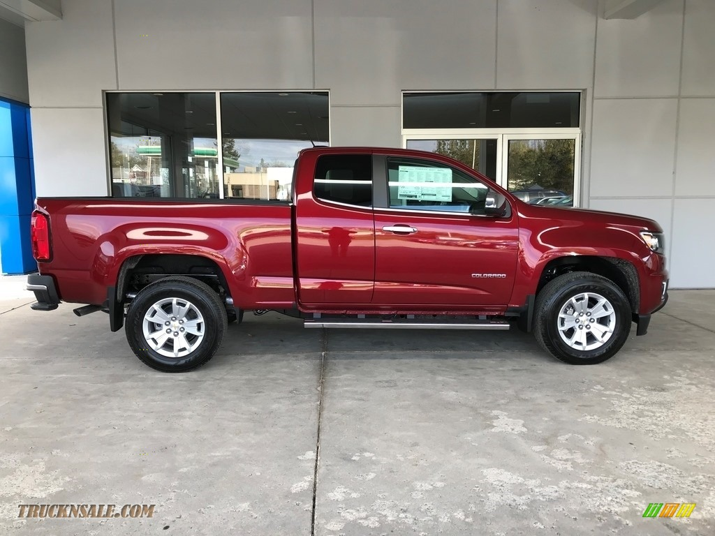 2018 Colorado LT Extended Cab - Cajun Red Tintcoat / Jet Black photo #3