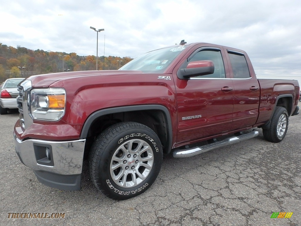 2014 Sierra 1500 SLE Double Cab 4x4 - Sonoma Red Metallic / Jet Black/Dark Ash photo #1