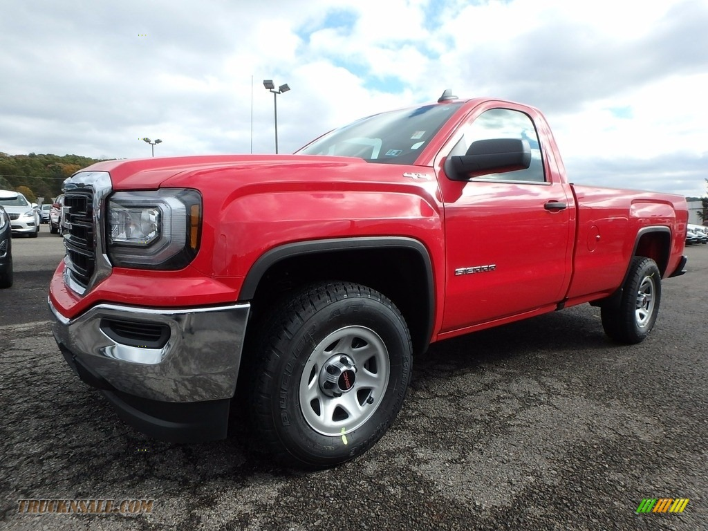 2018 Sierra 1500 Regular Cab 4WD - Cardinal Red / Dark Ash/Jet Black photo #1