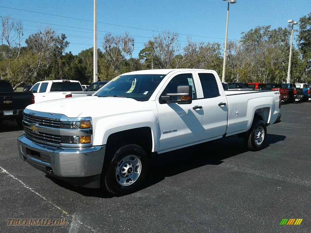 2018 Silverado 2500HD Work Truck Double Cab 4x4 - Summit White / Dark Ash/Jet Black photo #1