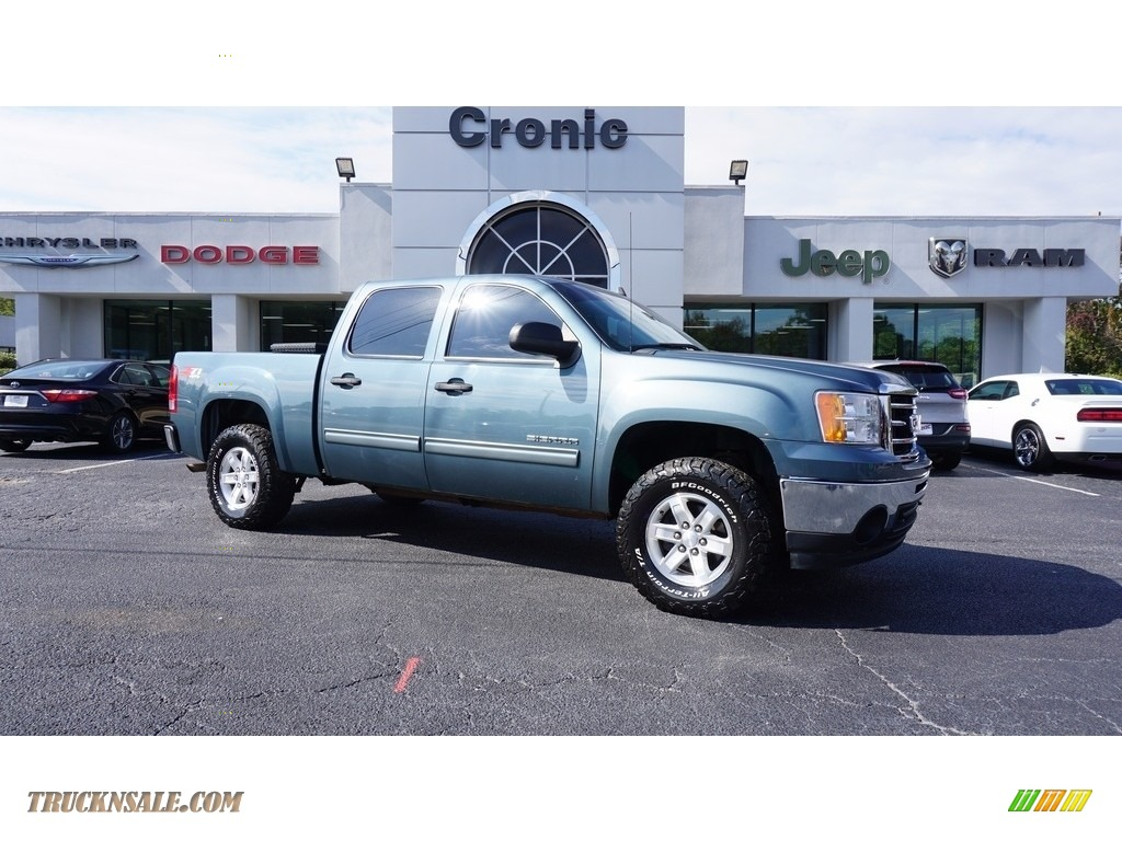2012 Sierra 1500 SLE Crew Cab 4x4 - Stealth Gray Metallic / Dark Titanium/Light Titanium photo #1