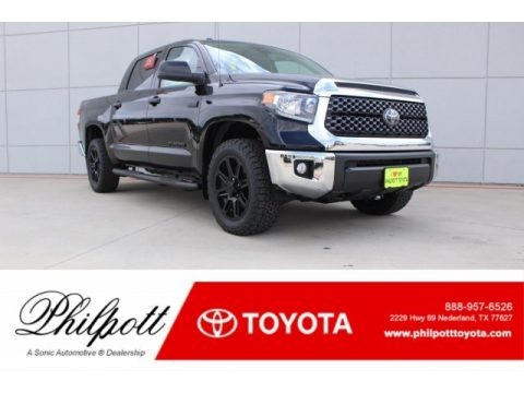 Midnight Black Metallic 2018 Toyota Tundra TSS CrewMax